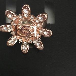 bebe STARBURST Rose gold ring size 7